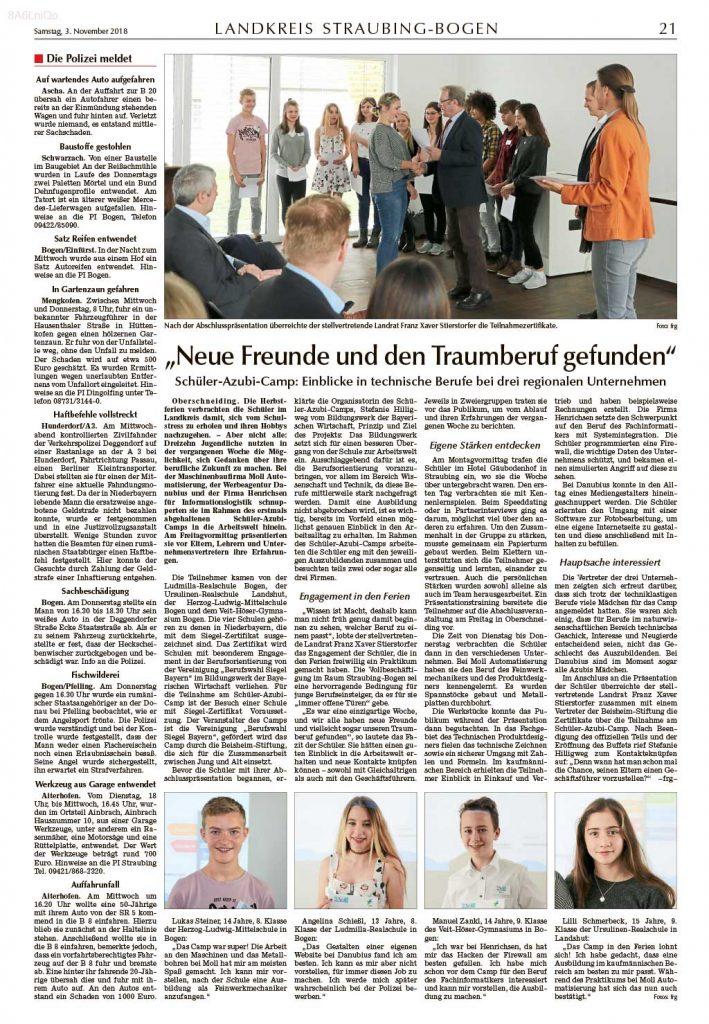 SchuelerAzubiCamp-Artikel-StraubingerTagblatt