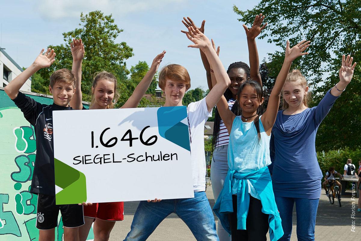 Zahl Der SIEGEL-Schulen Weiter Gestiegen Auf 1646!